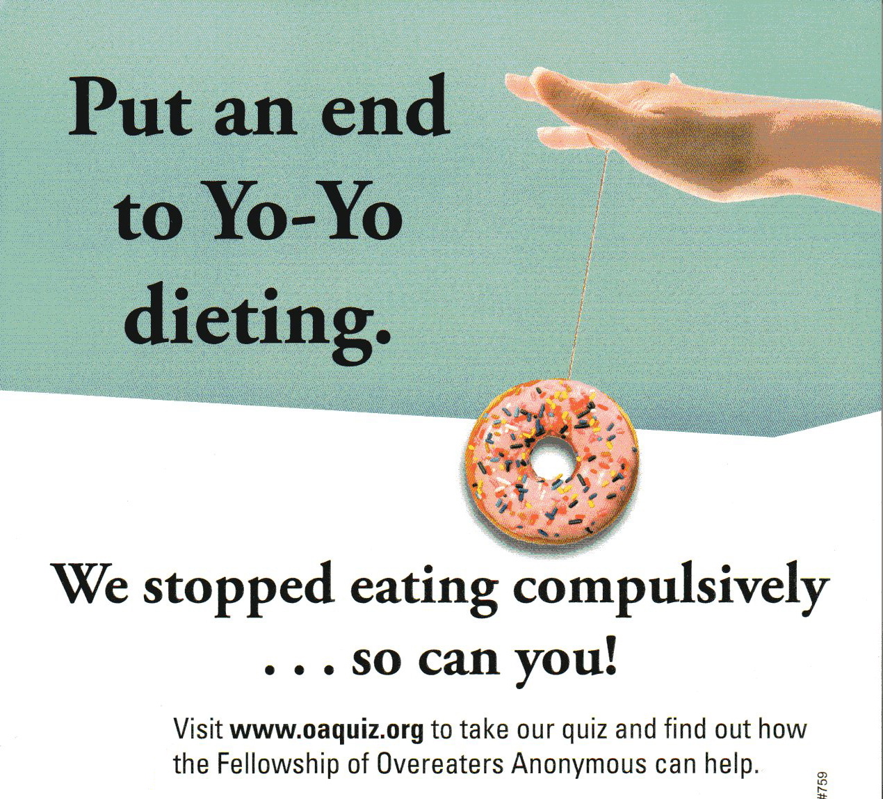 OA poster, yoyo dieting